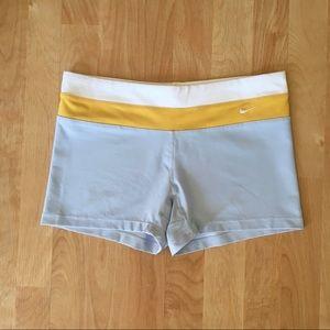 Nike Pale Blue Color Block Compression Shorts (M)